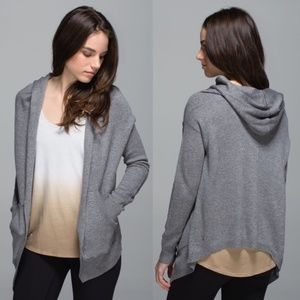 lululemon athletica Sweaters - Cozy Lululemon Cabin Yogi Wrap Heathered Grey Gray